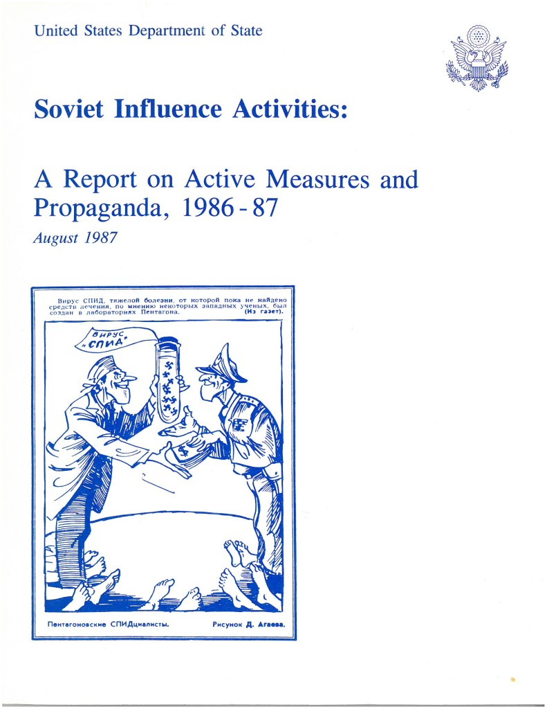 Soviet Influence Activities: A Report on Active Measures and Propaganda, 1986-87